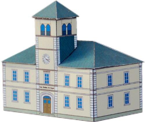 Diorama of Pretzschendorf - 48 paper models (papercraft